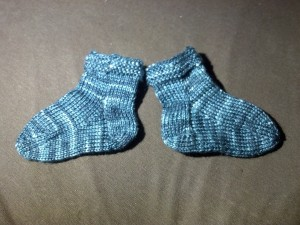 Baby Booties. Finished Nov. 2013.