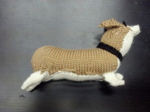 Corgi for Kathy. Finished Dec. 2013. In Valley Yarns Huntington.